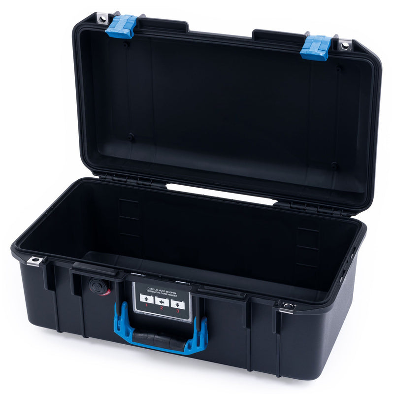 Pelican 1506 Air Case, Black with Blue Handles & Latches - Pelican Color Case
