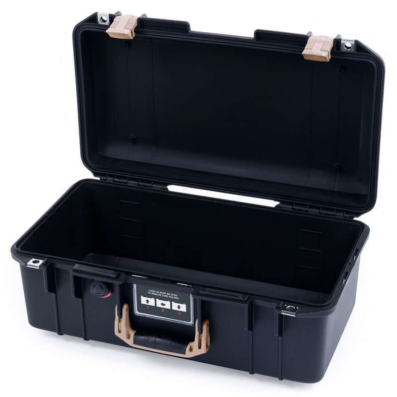 Pelican 1506 Air Case, Black with Desert Tan Handles & Latches - Pelican Color Case