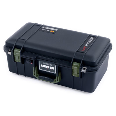 Pelican 1506 Air Case, Black with OD Green Handles & Latches - Pelican Color Case
