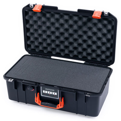 Pelican 1506 Air Case, Black with Orange Handles & Latches - Pelican Color Case