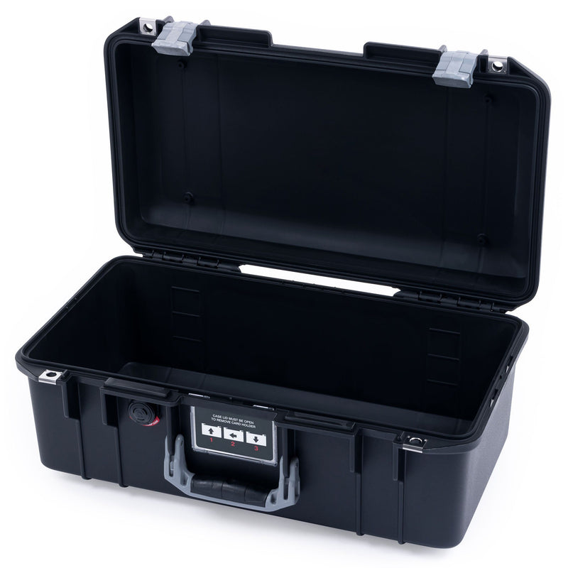 Pelican 1506 Air Case, Black with Silver Handles & Latches - Pelican Color Case