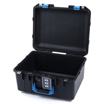 Pelican 1507 Air Case, Black with Blue Handle & Latches - Pelican Color Case