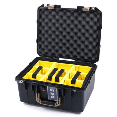 Pelican 1507 Air Case, Black with Desert Tan Handle & Latches - Pelican Color Case