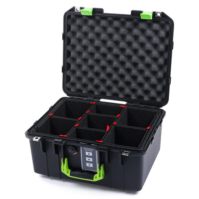 Pelican 1507 Air Colors Series, Black Air Case with Lime Green Handles & Latches, Customizable Accessory Bundles - Pelican Color Case