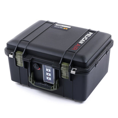 Pelican 1507 Air Case, Black with OD Green Handle & Latches - Pelican Color Case