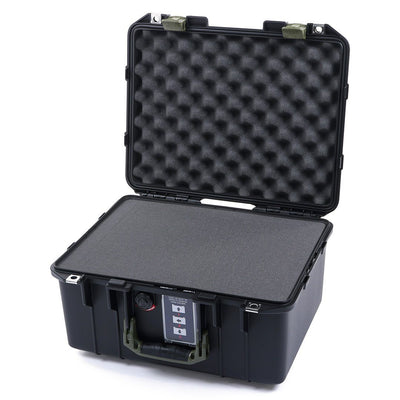 Pelican 1507 Air Colors Series, Black Air Case with OD Green Handles & Latches, Customizable Accessory Bundles - Pelican Color Case