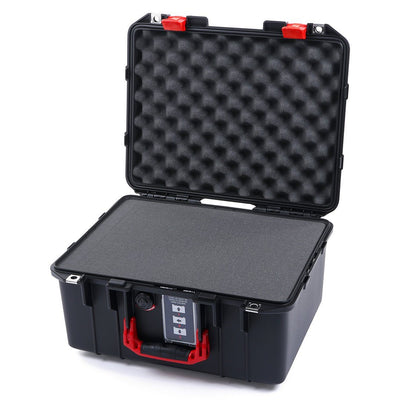 Pelican 1507 Air Case, Black with Red Handle & Latches - Pelican Color Case