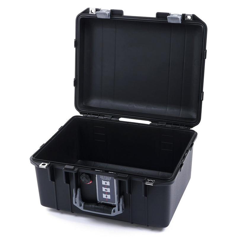 Pelican 1507 Air Case, Black with Silver Handle & Latches - Pelican Color Case