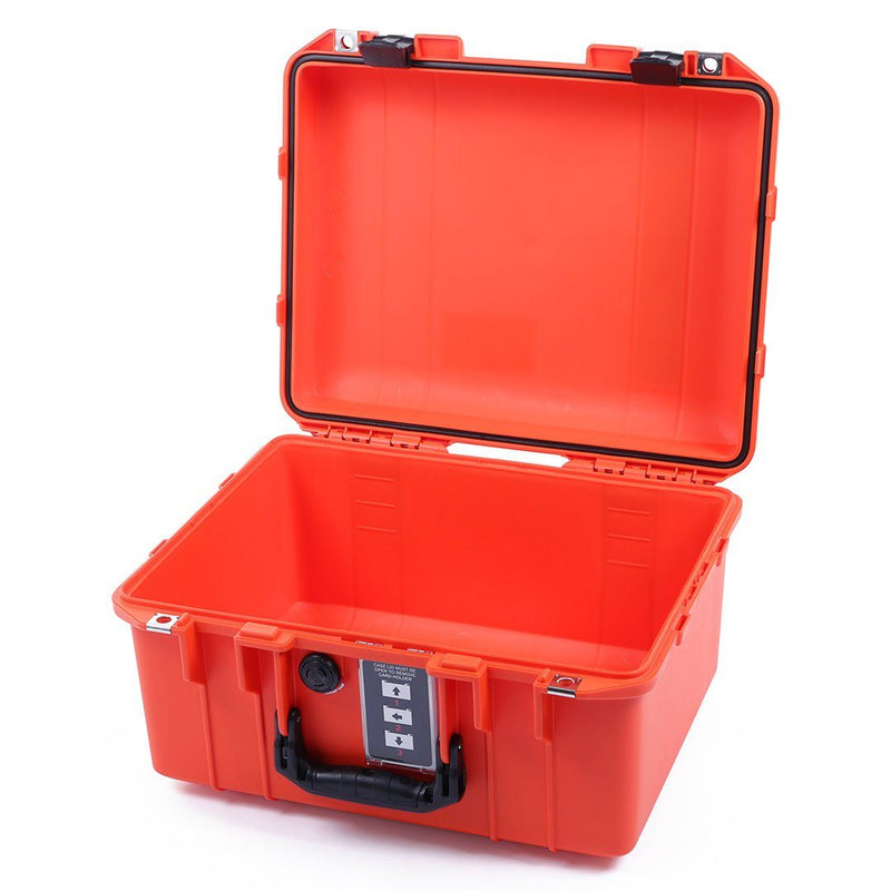Pelican 1507 Air Case, Orange with Black Handle & Latches - Pelican Color Case