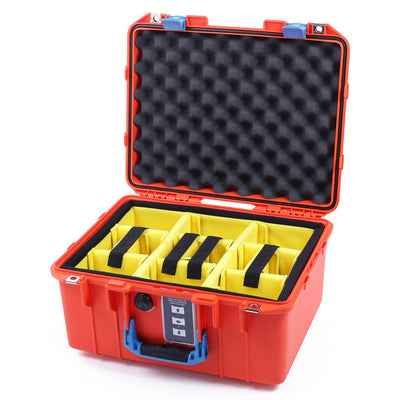 Pelican 1507 Air Case, Orange with Blue Handle & Latches - Pelican Color Case