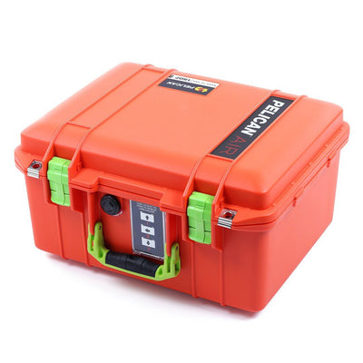 Pelican 1507 Air Case, Orange with Lime Green Handle & Latches - Pelican Color Case
