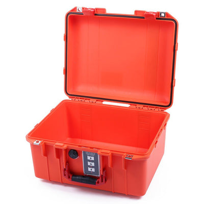 Pelican 1507 Air Case, Orange with Red Handle & Latches - Pelican Color Case