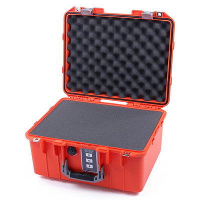 Pelican 1507 Air Case, Orange with Silver Handle & Latches - Pelican Color Case