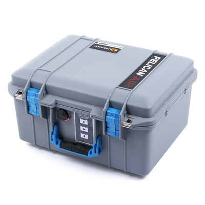 Pelican 1507 Air Colors Series, Silver Gray Air Case with Blue Handles & Latches, Customizable Accessory Bundles - Pelican Color Case
