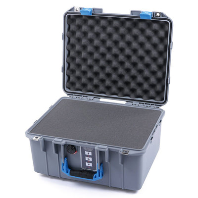 Pelican 1507 Air Case, Silver with Blue Handle & Latches - Pelican Color Case