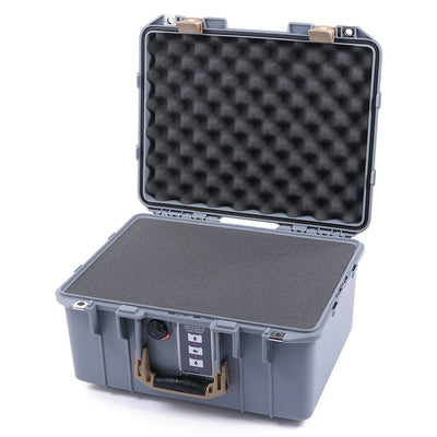 Pelican 1507 Air Case, Silver with Desert Tan Handle & Latches - Pelican Color Case