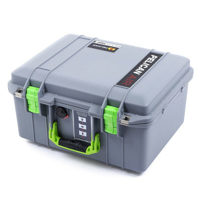 Pelican 1507 Air Colors Series, Silver Gray Air Case with Lime Green Handles & Latches, Customizable Accessory Bundles - Pelican Color Case