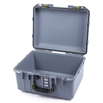 Pelican 1507 Air Case, Silver with OD Green Handle & Latches - Pelican Color Case