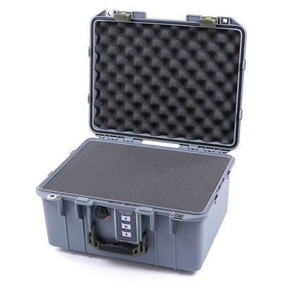 Pelican 1507 Air Colors Series, Silver Gray Air Case with OD Green Handles & Latches, Customizable Accessory Bundles - Pelican Color Case