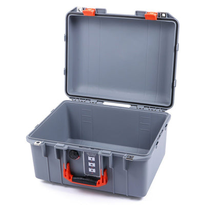 Pelican 1507 Air Case, Silver with Orange Handle & Latches - Pelican Color Case