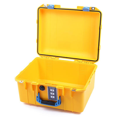 Pelican 1507 Air Case, Yellow with Blue Handle & Latches - Pelican Color Case