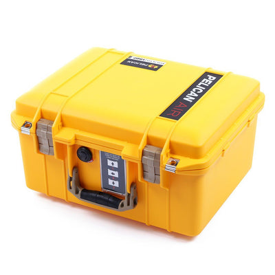 Pelican 1507 Air Case, Yellow with Desert Tan Handle & Latches - Pelican Color Case