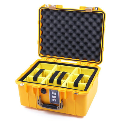 Pelican 1507 Air Colors Series, Yellow Air Case with Desert Tan Handles & Latches, Customizable Accessory Bundles - Pelican Color Case