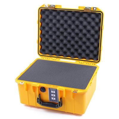Pelican 1507 Air Colors Series, Yellow Air Case with OD Green Handles & Latches, Customizable Accessory Bundles - Pelican Color Case