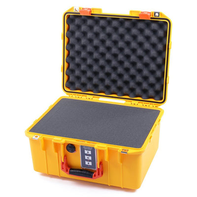 Pelican 1507 Air Case, Yellow with Orange Handle & Latches - Pelican Color Case