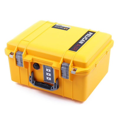 Pelican 1507 Air Colors Series, Yellow Air Case with Silver Gray Handles & Latches, Customizable Accessory Bundles - Pelican Color Case