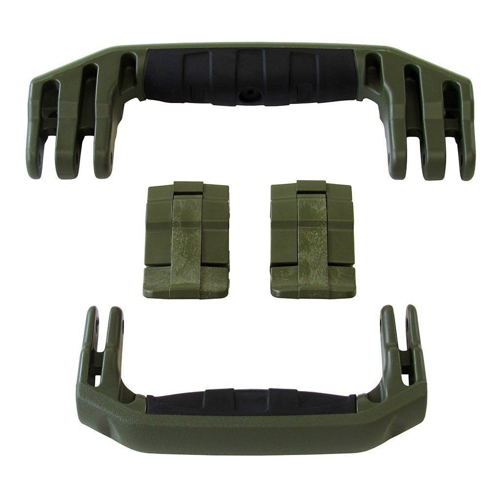 OD Green Replacement Handles & Latches for Pelican 1510 or 1560, Two OD Green Handles, Two OD Green Latches