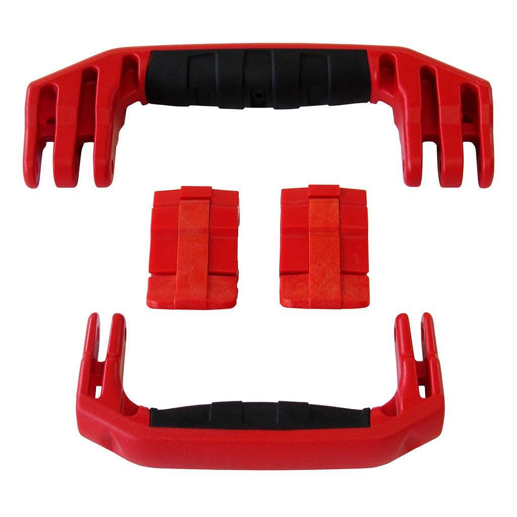 Red Replacement Handles & Latches for Pelican 1510 or 1560, Two Red Handles, Two Red Latches