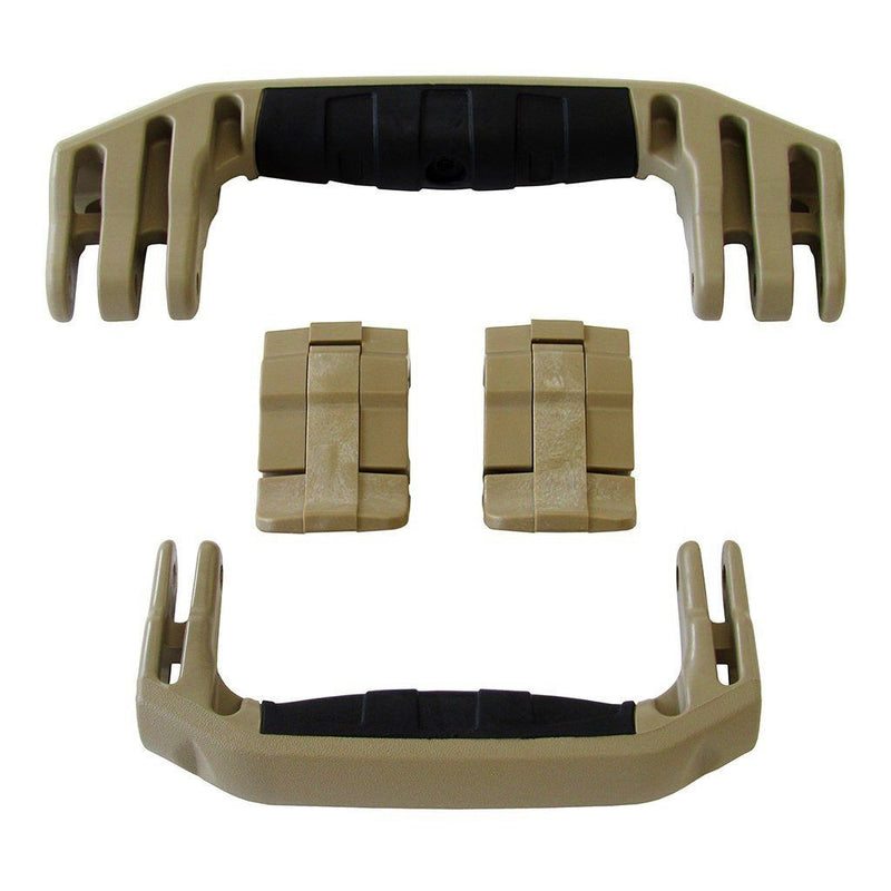 Desert Tan Replacement Handles & Latches for Pelican 1510 or 1560, Two Desert Tan Handles, Two Desert Tan Latches - Pelican Color Case