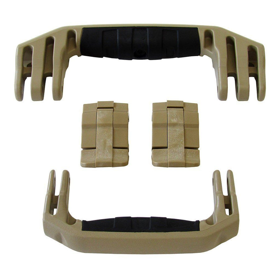 Desert Tan Replacement Handles & Latches for Pelican 1510 or 1560, Two Desert Tan Handles, Two Desert Tan Latches