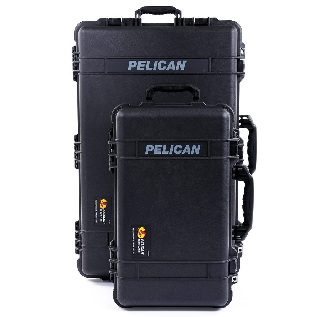 Pelican 1510 & 1650 Protector Cases Bundle, Black