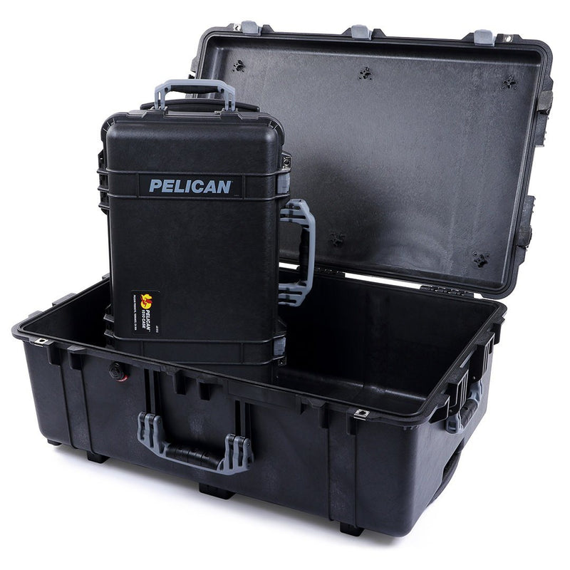 Pelican 1510 & 1650 Case Bundle, Black with Silver Handles & Latches - Pelican Color Case
