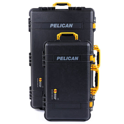 Pelican 1510 & 1650 Colors Series Bundle, Black Protector Cases with Yellow Handles & Latches - Pelican Color Case