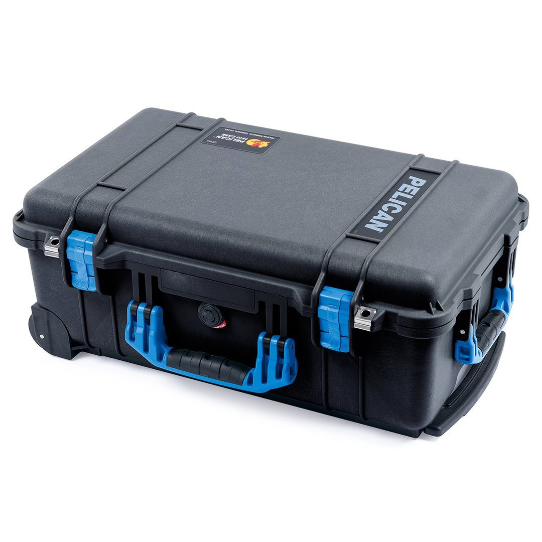 Pelican 1510 Case, Black with Blue Handles & Latches - Pelican Color Case