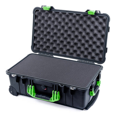 Pelican 1510 Case, Black with Lime Green Handles & Latches - Pelican Color Case