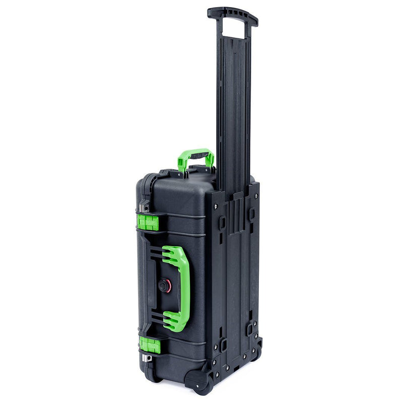 Pelican 1510 Case, Black with Lime Green Handles & Latches