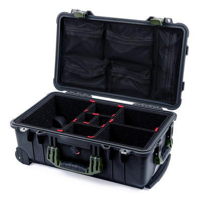 Pelican 1510 Case, Black with OD Green Handles & Latches - Pelican Color Case