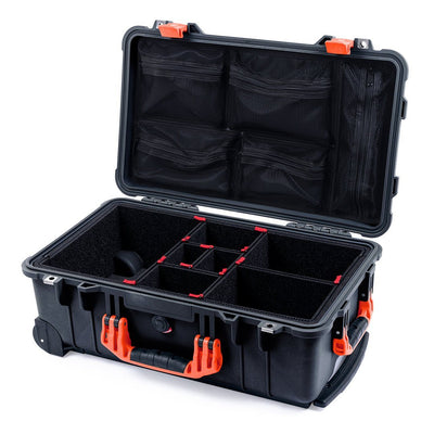 Pelican 1510 Case, Black with Orange Handles & Latches - Pelican Color Case