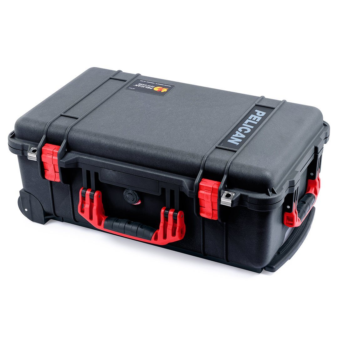 Pelican 1510 Case, Black with Red Handles & Latches - Pelican Color Case