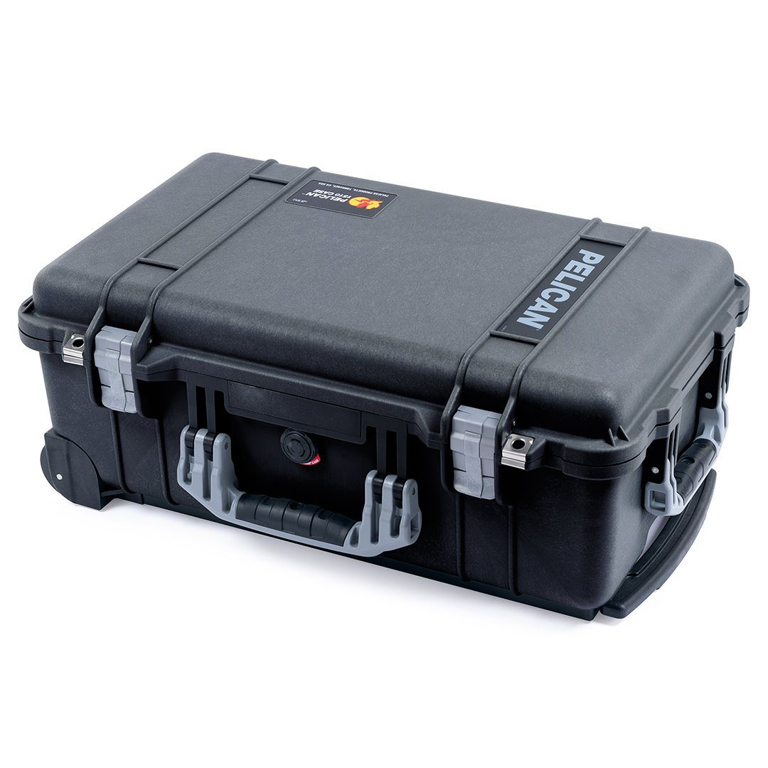 Pelican 1510 Case, Black with Silver Handles & Latches - Pelican Color Case
