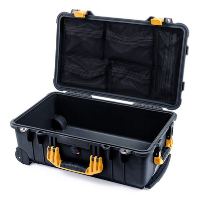 Pelican 1510 Case, Black with Yellow Handles & Latches - Pelican Color Case