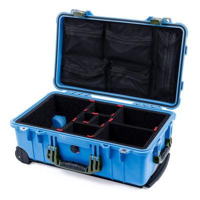 Pelican 1510 Case, Blue with OD Green Handles & Latches - Pelican Color Case