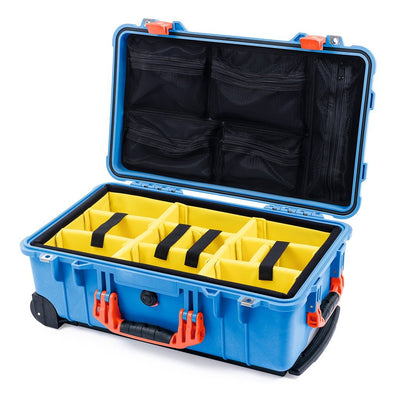 Pelican 1510 Case, Blue with Orange Handles & Latches - Pelican Color Case