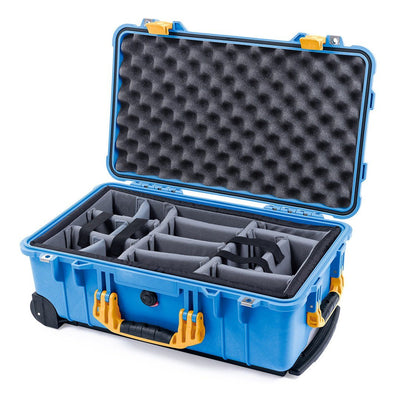 Pelican 1510 Case, Blue with Yellow Handles & Latches - Pelican Color Case