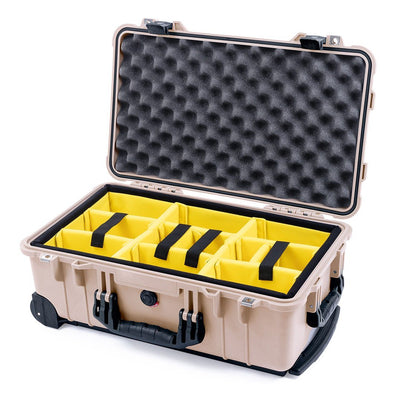 Pelican 1510 Case, Desert Tan with Black Handles & Latches - Pelican Color Case