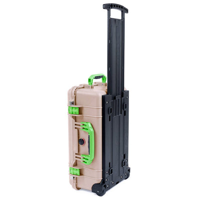 Pelican 1510 Case, Desert Tan with Lime Green Handles & Latches - Pelican Color Case